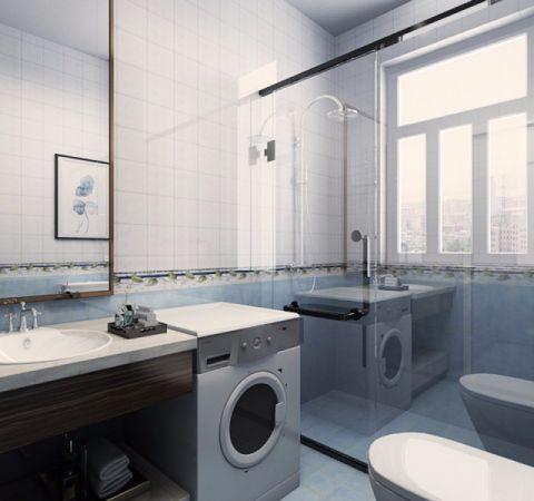 卫生间窗台简约风格装饰效果图