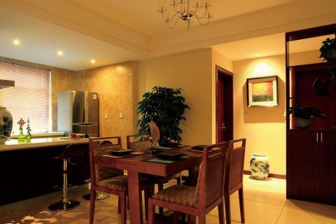 东南亚风格100平米两室两厅新房装修效果图