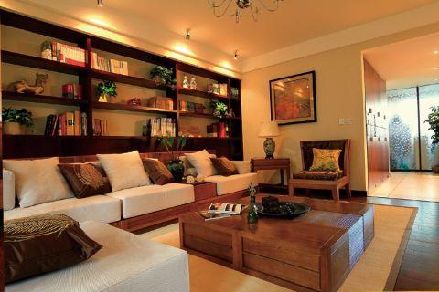 客厅博古架东南亚风格装饰效果图
