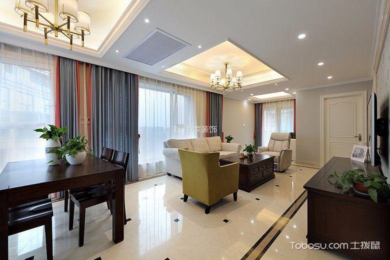 杭州东方府邸150平米美式风格效果图