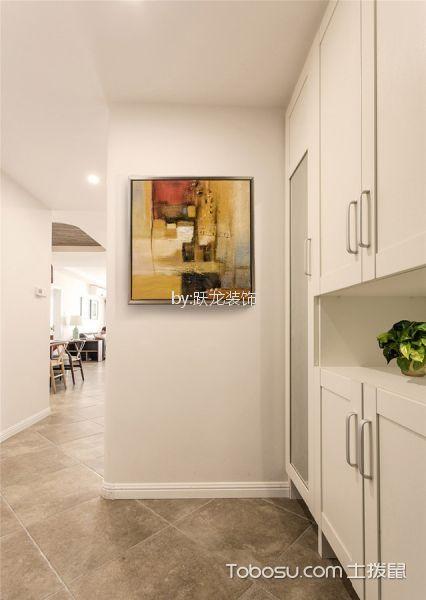 玄关灰色地砖混搭风格装修设计图片