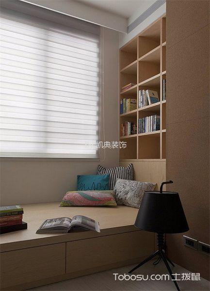 儿童房白色榻榻米新中式风格装饰设计图片