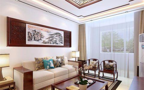 新中式风格100平米楼房室内装修效果图