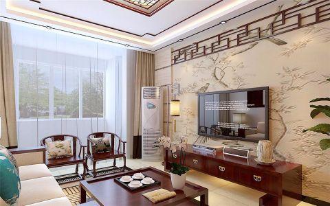 客厅飘窗新中式风格效果图