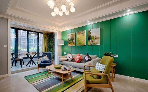 和谐盛世120平现代简约三居室装修效果图