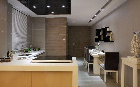 厨房背景墙现代简约风格装潢效果图