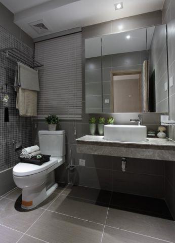 卫生间背景墙现代简约风格装修图片