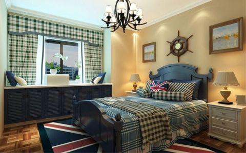 卧室飘窗地中海风格装潢图片