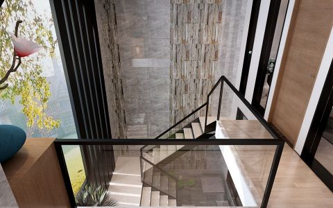玄关楼梯经典风格装修效果图