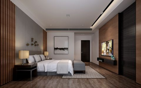 卧室背景墙经典风格装饰图片