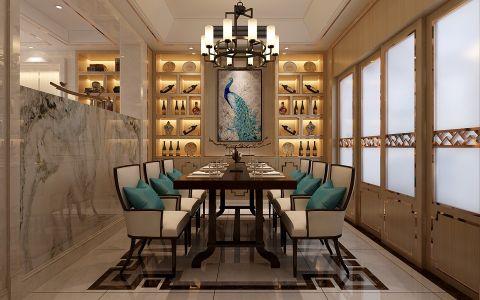 餐厅推拉门新中式风格装饰图片