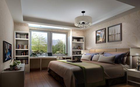 卧室白色书桌混搭风格装饰设计图片