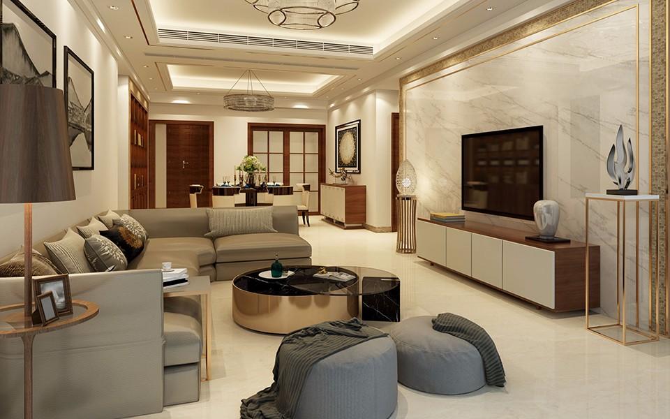 4室2卫2厅140平米混搭风格