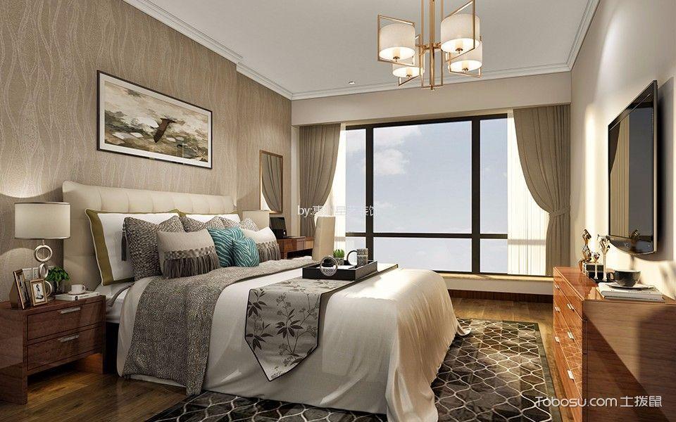 惠州中洲天御140平米现代中式风格效果图