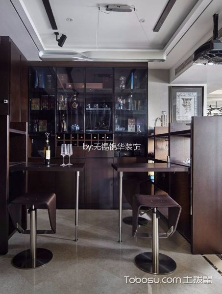 餐厅灰色地砖现代风格装修设计图片