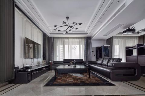 2018现代客厅装修设计 2018现代吊顶图片