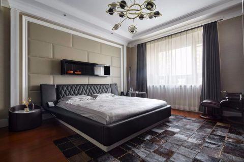 卧室黑色床现代风格装潢设计图片