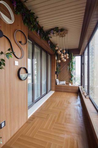 阳台咖啡色地板砖现代风格效果图