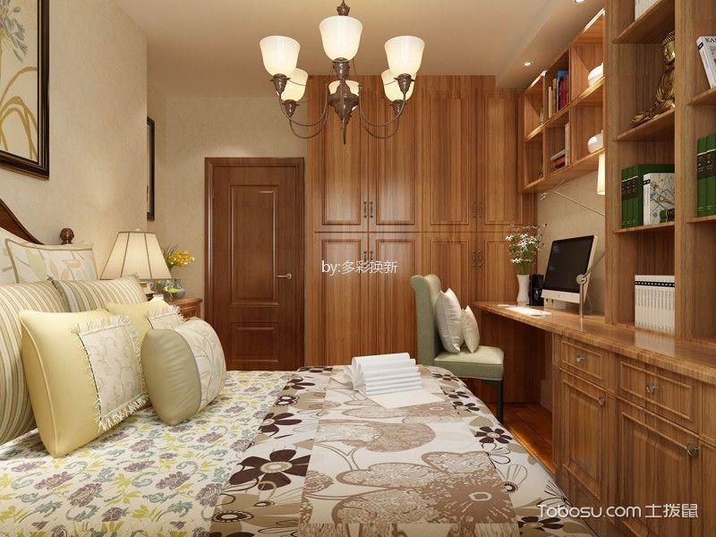 简欧风格109平米三室两厅新房装修效果图