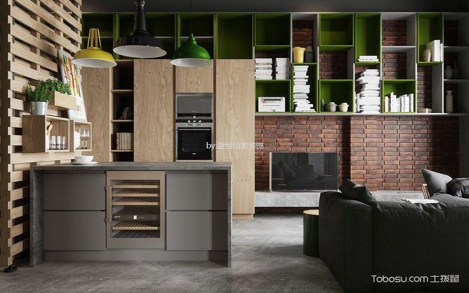 客厅灰色地砖北欧风格装饰设计图片