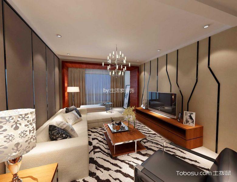客厅米色吊顶现代简约风格装修图片