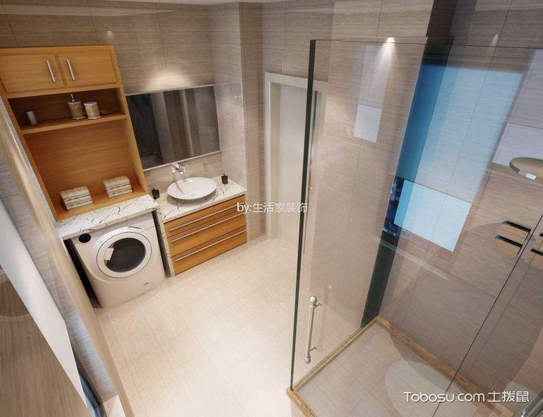 卫生间橙色洗漱台现代简约风格装潢设计图片