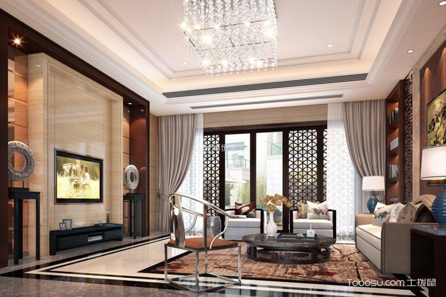 中式风格260平米别墅室内装修效果图