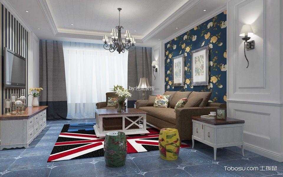 三居室美式风格大户型装修效果图
