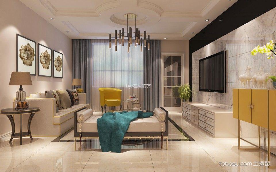 120平两居室简欧风格装修效果图