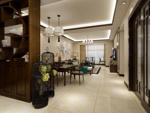 中式风格143平米套房室内装修效果图