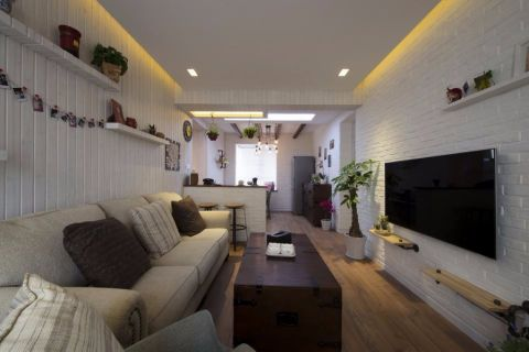 客厅隔断地中海风格装饰设计图片