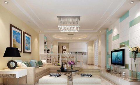 枫林蓝岸现代简约风格三居室装修效果图