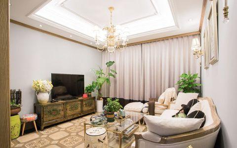 客厅吊顶欧式田园风格装饰图片