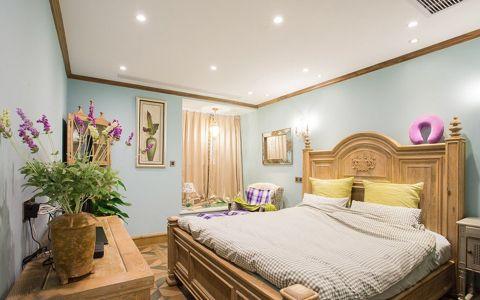 卧室背景墙欧式田园风格装潢图片