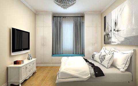 高贵风雅北欧白色电视柜装潢效果图
