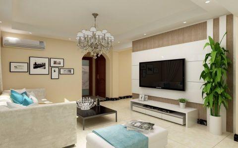 现代简约客厅照片墙装饰设计图片