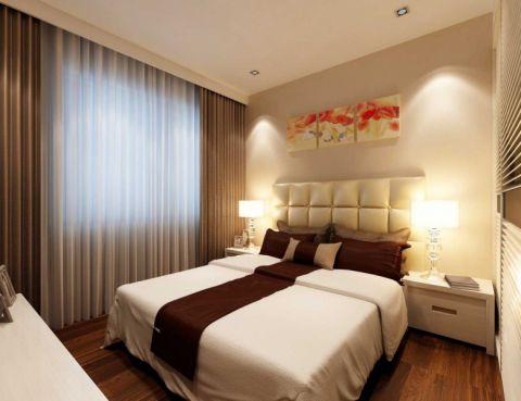 卧室米色床现代简约风格装潢图片