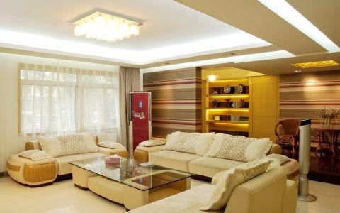 2018现代简约客厅装修设计 2018现代简约窗帘装修图