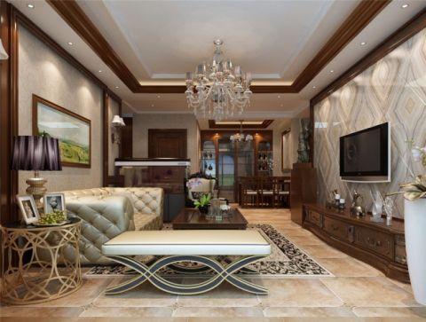金台府邸美式风格四室两厅装修效果图
