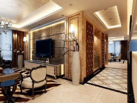 客厅走廊现代简约风格装饰效果图