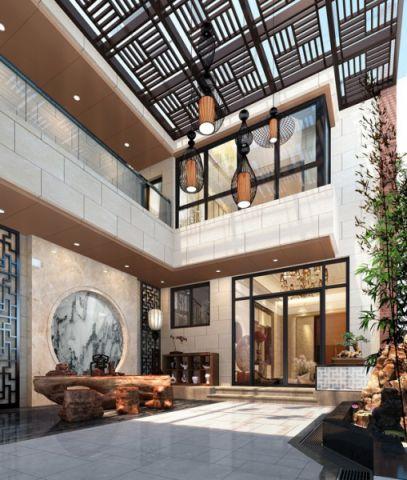 花园吊顶中式风格装潢设计图片