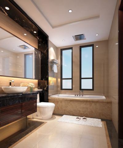 卫生间窗台中式风格装修效果图