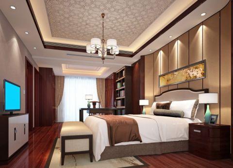 卧室飘窗中式风格装潢效果图