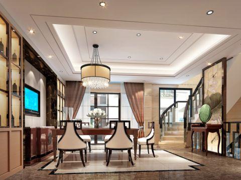 餐厅楼梯中式风格装饰图片