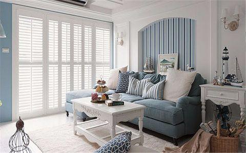 银城东苑紫荆园90平地中海风格两居室装修效果图