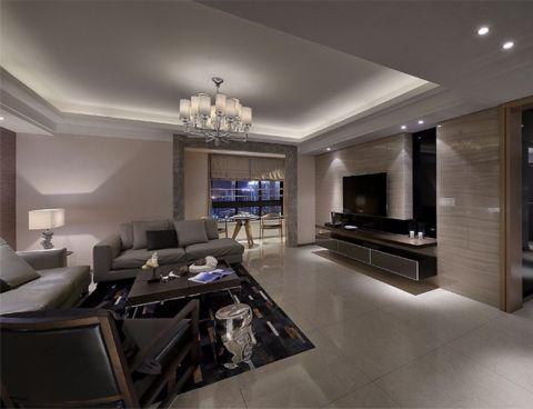 龙湖龙誉城现代风格三居室装修效果图