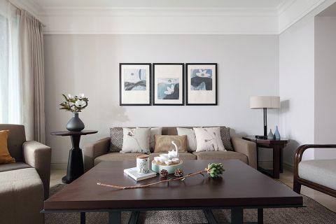 雅居乐星河湾110平简约风格三居室装修效果图