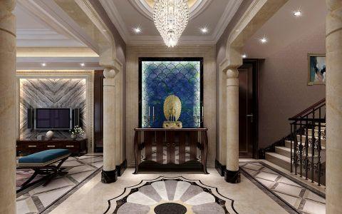 客厅楼梯欧式风格装饰设计图片
