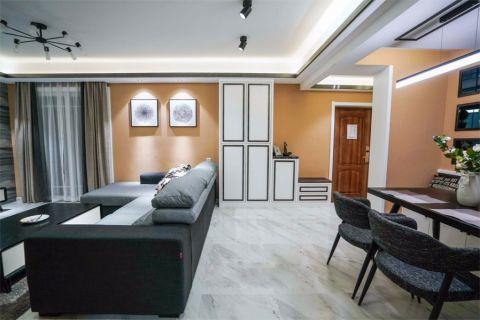保利城110平三居室简约风格装修效果图