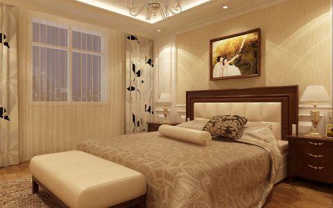 卧室照片墙简欧风格效果图
